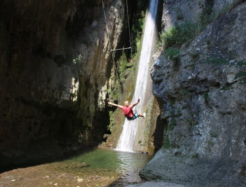 Parco cascate di molina - Schommelen bij waterval Gardameer